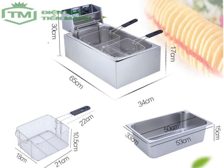 Bếp chiên nhúng điện đơn 12L