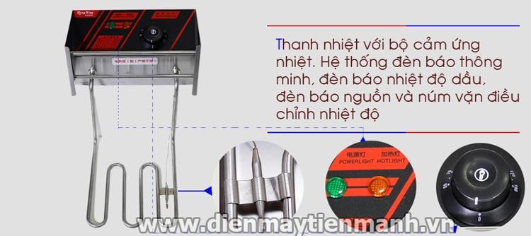 Thanh nhiệt bếp chiên nhúng đôi dùng điện hx-82