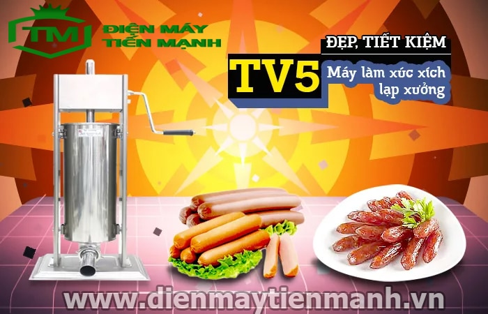 máy làm xúc xích bằng tay TV5L