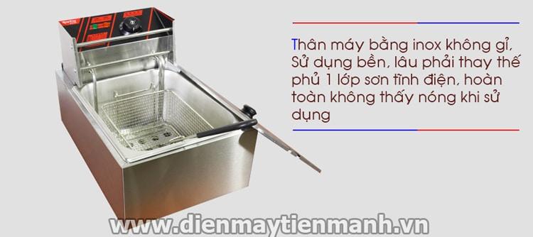 thân máy bếp chiên nhúng dùng điện HX-81