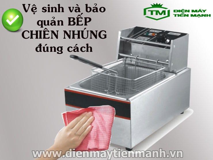 Cách vệ sinh bếp chiên nhúng điện